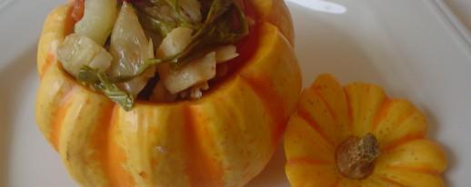 Pumpkino com bananas carameladas